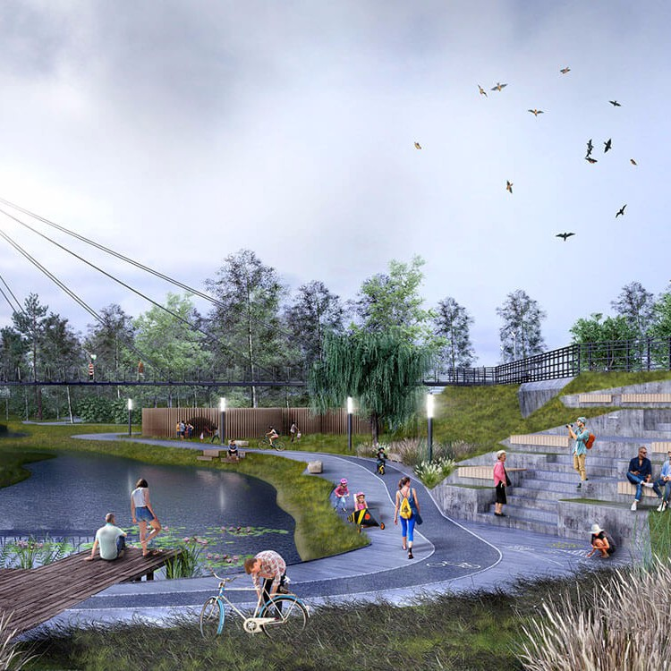 Дизайн-проект парка в Кольцово, Новосибирск